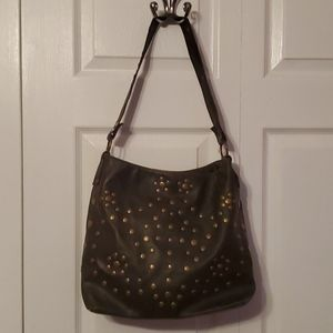 Handbags - Brown studded shoulder bag purse NWOT